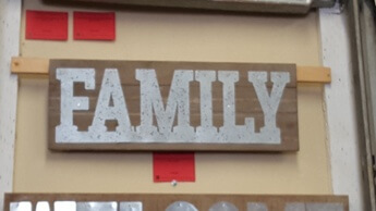 CBK Family Hardwood & Galvanized Wall Sign