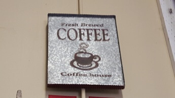 CBK Fresh Brewed Coffee Hardwood & Metal Wall Sign
