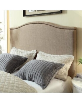 Modus Gervais Ivory King Headboard with Nailhead Trim