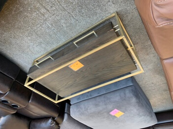 Hammary Dark Brown & Gold Coffee Table Base