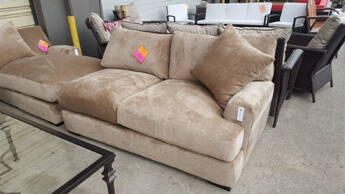 Jonathan Louis Teddy Oatmeal One-Arm Sofa