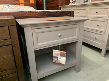 Pulaski Sanibel Grey Nightstand (Rust Spots On Top)