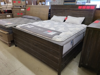 Modus Townsend Grey Distressed King Storage Bed