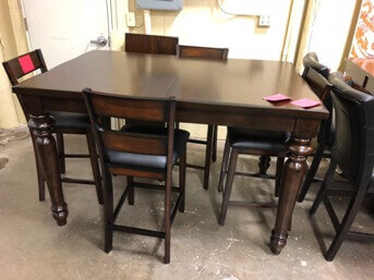 Coaster Hamilton Counter-Height Dining Table with Leaf & Turned Legs