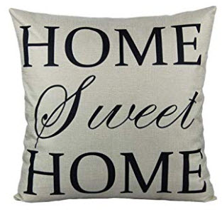 HOME SWEET HOME Fabric Throw Pillow