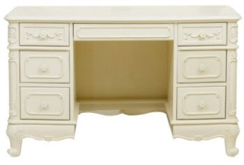 Homelegance Elegant Ivory Desk with Carved Accents