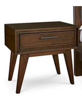 Home Meridian Jollene Espresso Finish 1-Drawer Nightstand