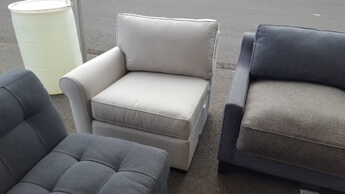 Jonathan Louis Light Silver One-Arm Chair