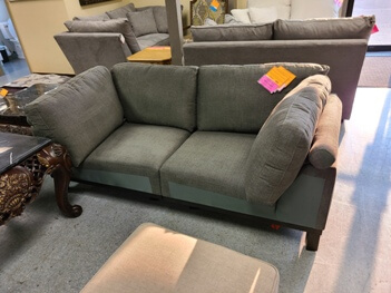 Laser Charcoal 2-Piece Loveseat
