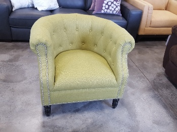 Chesterfield Lime Accent Chair