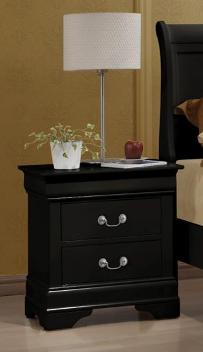 Coaster Louis Phillipe Black 2-Drawer Nightstand
