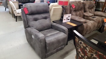 Southern Motion Velocity 6157 Power Recliner with Power Adjustable Headrests & Lumbar Support in Elk River Slate