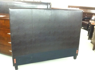 Mambo Chocolate Leatherette Queen Headboard