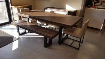 Modus McKinney Pine Dining Set with 4 Chairs & 1 Bench