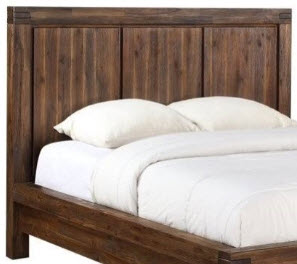 Modus Meadow Brick Brown Hardwood Queen Headboard