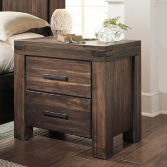 Modus Meadow Rosewood 2-Drawer Nightstand (blemish)