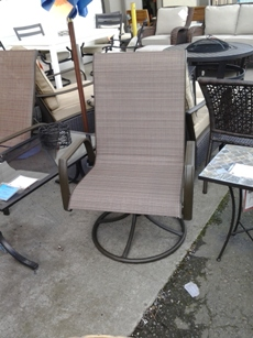 Outdoor Chocolate Mesh Swivel Rocker