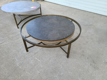 Modus Round Marble & Metal Coffee Table (blemish)