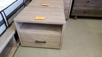 Modus McKinney Rustic Grey Nightstand with 1 Drawer