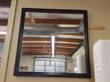 Dark Cappuccino Framed Mirror