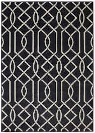 Coaster Black Criss Cross Area Rug 5 x 8