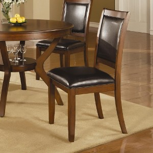 Coaster Nelms Hardwood & Faux Leather Side Chairs (set of 4)