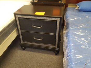 New Classic Kanti Black Pearl Nightstand with Crystal Accents