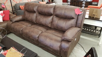 Southern Motion Velocity 875 Power Reclining Sofa with Power Adjustable Headrests in Pasadena Elk
