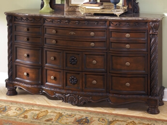 Ashley Signature Design Northshore Dresser with Marble Top