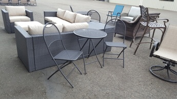 Outdoor Black Metal Folding Bistro Table & 2 Chairs
