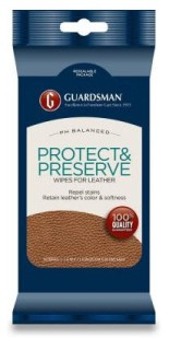 Guardsman Protect & Preserve Wipes for Leather (6 pack)