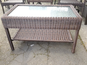 Outdoor PVC Wicker Rectangular Coffee Table