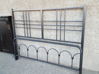 Squared Metal Queen Headboard