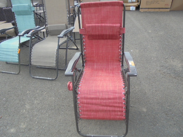 Red Zero-Gravity Outdoor Recliner