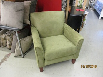 Top-Line Sage Green Accent Chair with Flaired Arms