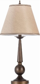 Coaster Sculpted Bronze Table Lamp with Round Shade