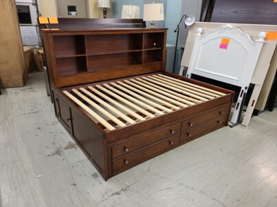 New Classic Seaside Espresso Full Storage Bed