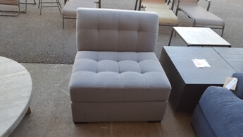 Jonathan Louis Roxanne Light Silver Armless Chair
