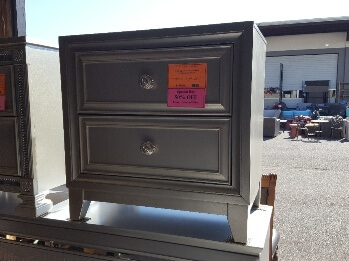 Homelegance Silver 2-Drawer Nightstand