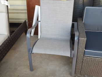 Silver Mesh Stacking Chair