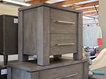 Modus Smoke Grey Rustic Nightstand (blemish on corner)