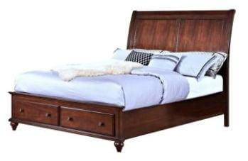 New Classic Spring Creek Cherry Finish Queen Platform Storage Bed