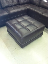 Chateau Dax Stacey Leather Tufted Ottoman