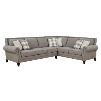 Emerald Willow Creek Pebble Brown 2-Piece Sectional