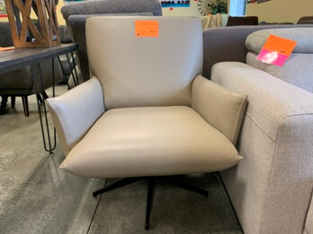 Chateau Dax Light Grey Swivel Chair