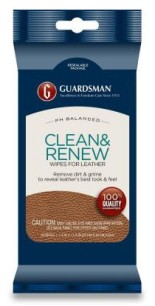 Guardsman Clean & Renew Wipes for Leather (20 pack)